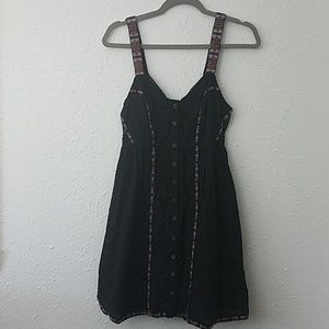 Free people new romantics XS black dress boho